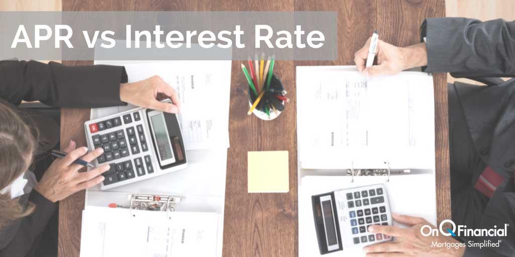 APR vs Interest Rate Home Loan